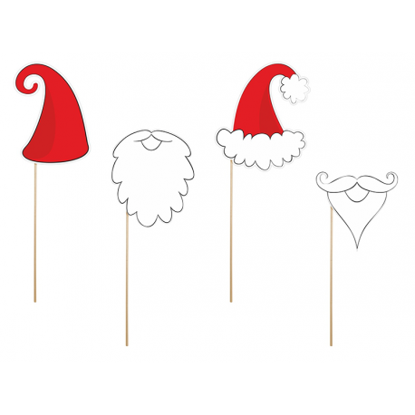 Barbes et chapeaux Père Noël